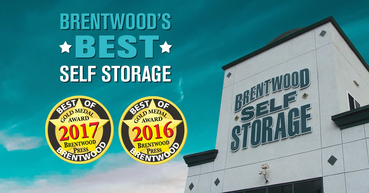 Brentwood Self Storage Announces Gold Medal Award for Best of Brentwood