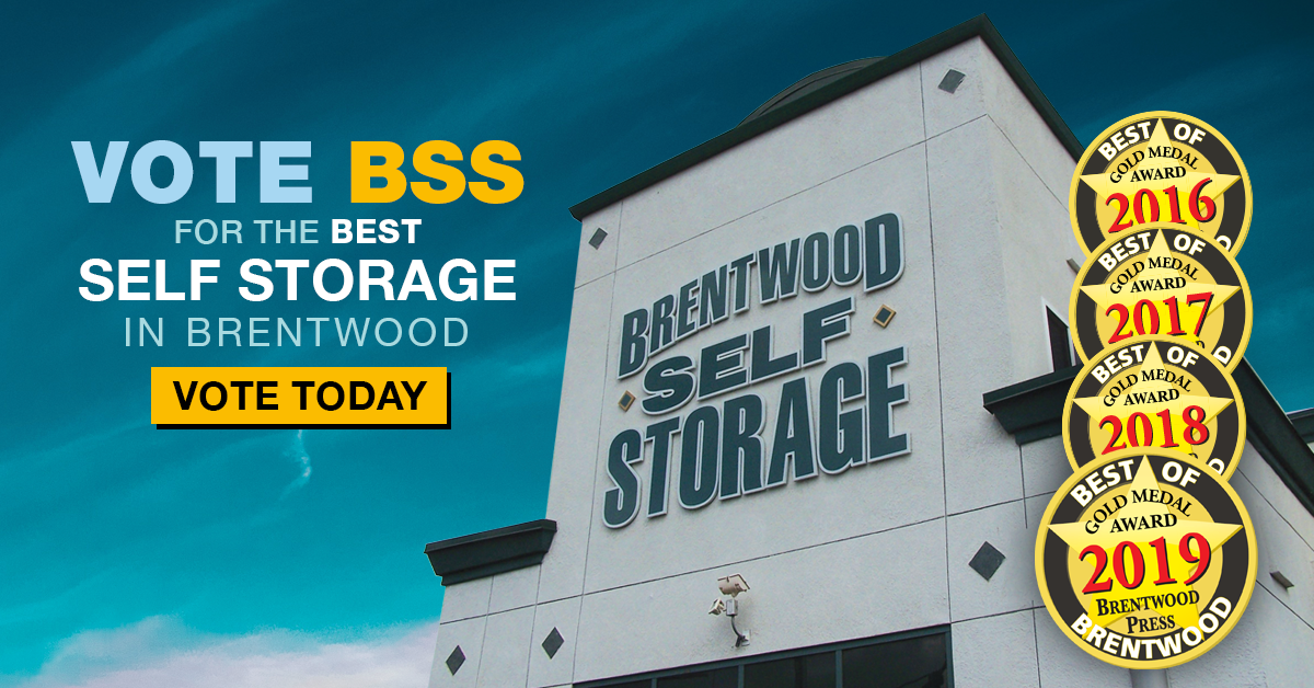Vote Brentwood Self Storage as the Best Self Storage in Brentwood 2020